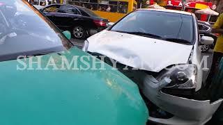 Ավտովթար Երևանում  Honda ն դուրս է եկել հանդիպակաց երթևեկելի գոտի և բախվել կին վարորդի Volkswagen ին