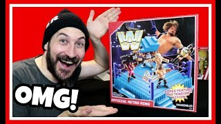 WWE Mattel Official Retro Ring Unboxing & Review + Retro Figures!!!
