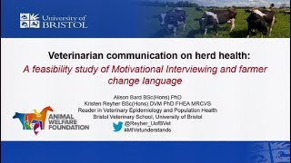 Veterinarian communication on herd health...