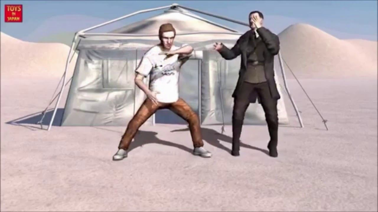 Rare footage of Hitler and PewDiePie last anime fight before the suicide (1945) colorized.