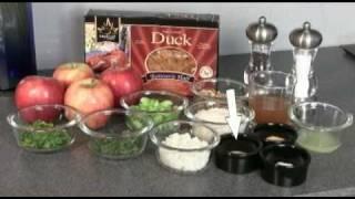 Savory Duck-Stuffed Baked Apples w/ Walnut Herb Rice