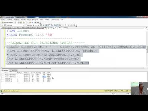 COURS 5 SQL ORDER BY, GROUP BY, Fonctions d'agregat, jointures, Alias ...