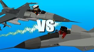 Minecraft Server Wars - Jet Duel [Flans Mod Tyrants and Plebeians Mod Pack]