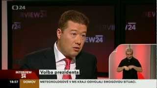 Interview ČT24 - volba prezidenta - Tomio Okamura