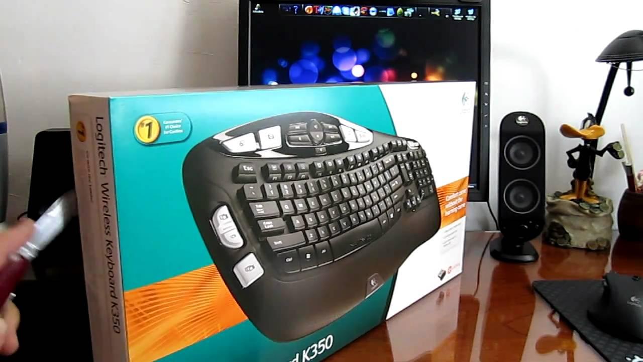 Logitech Wireless Keyboard K350 Unboxing
