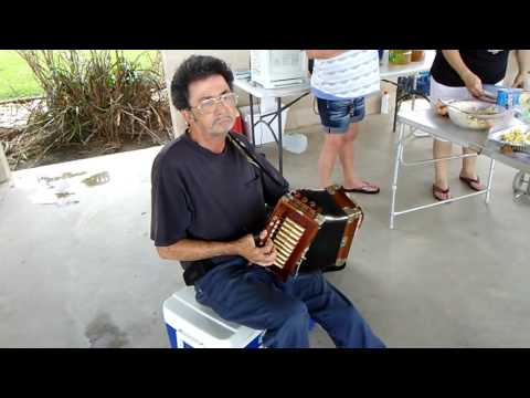 Johnny Best on the accordion Creole Stomp.