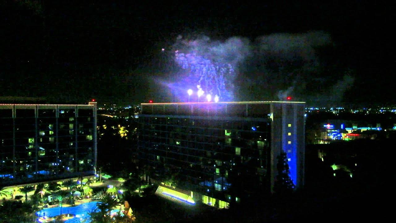 Disneyland Hotel Frontier Tower Suite 5798 Fireworks View