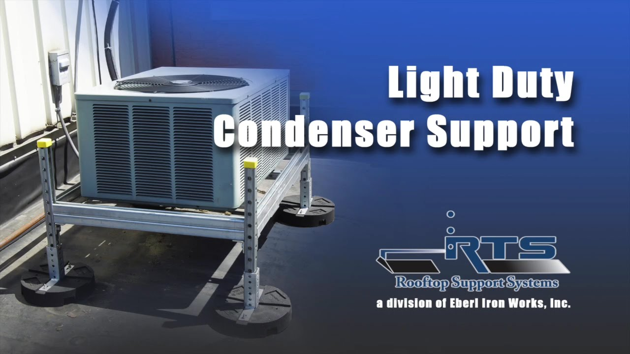 Light Duty Rooftop Condenser Unit Support Youtube