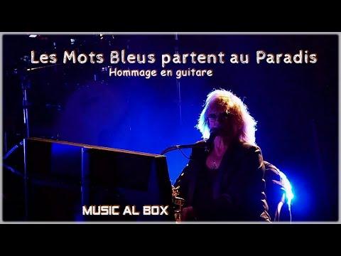 Les Mots Bleus partent au Paradis . Petit hommage avec une guitare #Christophe