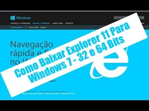 Veja como Atualizar o Explorer 11 no seu windows 7