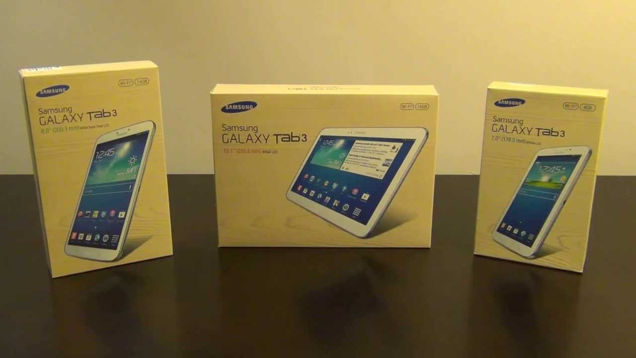 samsung galaxy tab 3 tablets 7 0 8 0 and 10 1 spec comparison