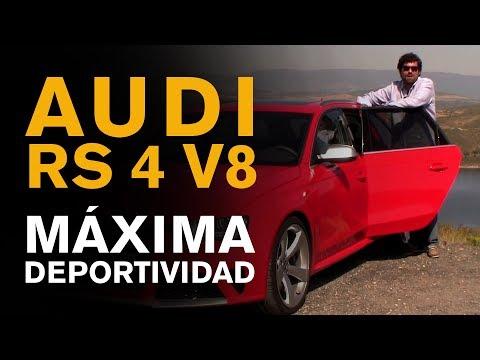 Vídeo prueba coche familiar deportivo Audi RS4 V8 FSI 450 CV