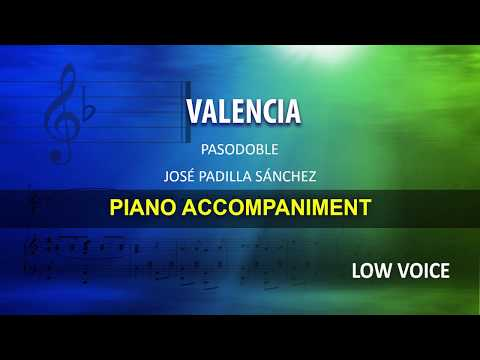 Valencia / Padilla: Karaoke + Score guide / Low Voice