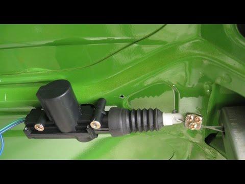 Ремонт ВАЗ 2109, ВАЗ 21099.Установка электро замка, Электро замок на крышку багажника -099.