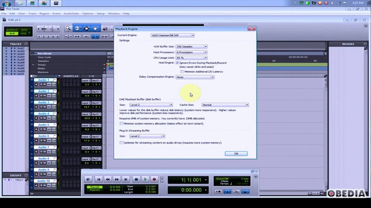 Avid Protools - how to setup your audio device