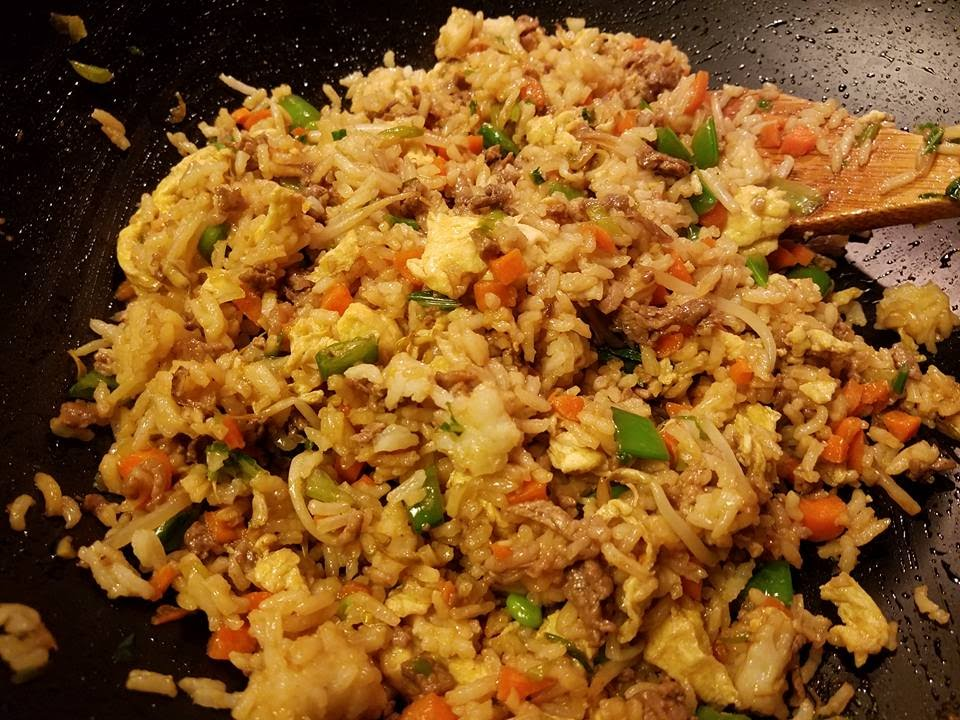 Quick and easy beef fried rice youtube quick and easy beef fried rice ccuart Image collections
