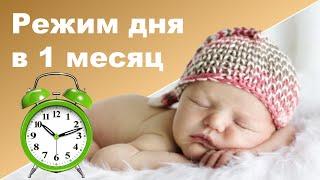 РЕЖИМ ДНЯ НОВОРОЖДЕННОГО ♥ Режим дня в 1 месяц