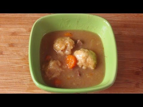 How to make dumpling for stew without suet