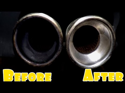 Cleaning The World's Dirtiest Exhaust Tips! For Under 5$