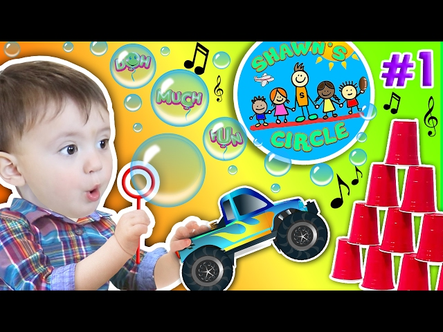 Shawn's Circle: ♫ POPPING BUBBLES ♪ Family Fun Games w/ Baby! Toys Playtime (#1) | DOH MUCH FUN