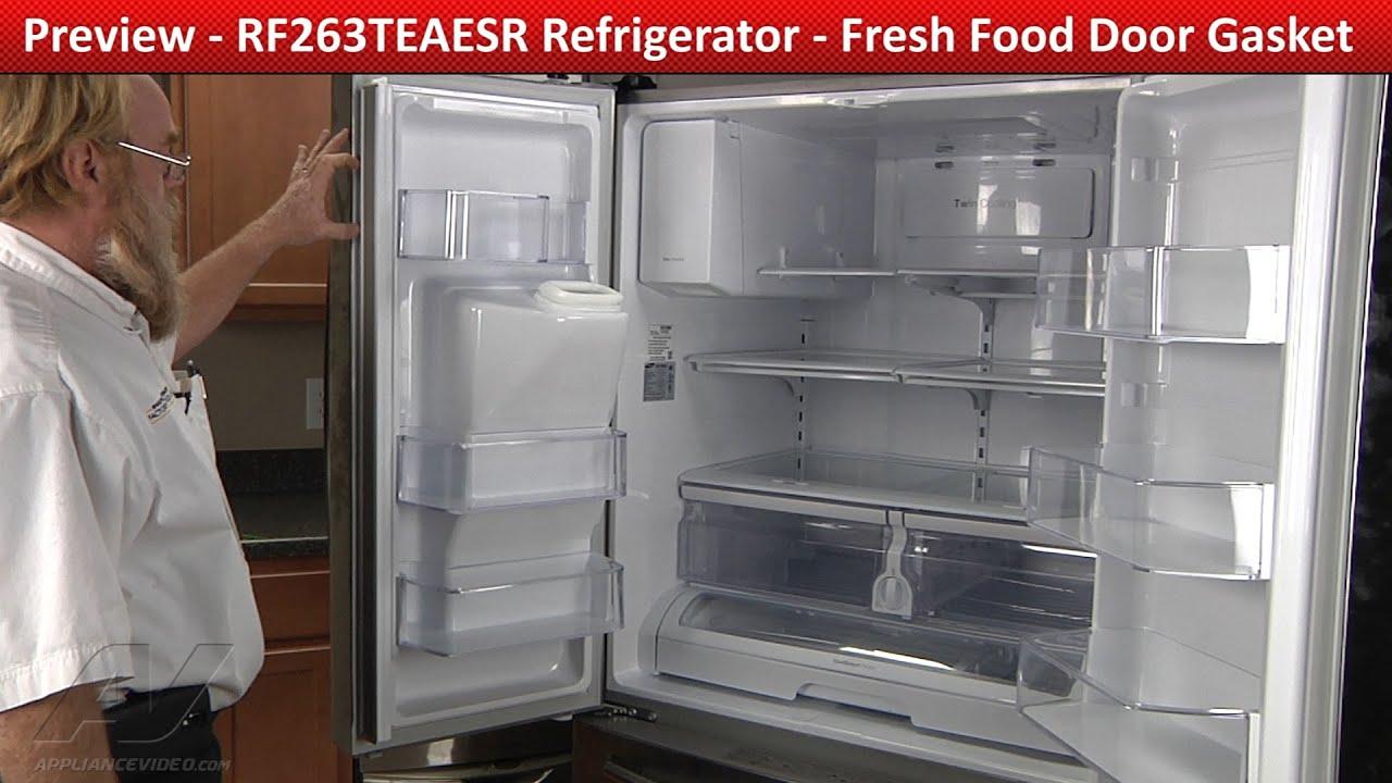 Fresh Food Door Gasket Rf263teaesr Samsung Refrigerator