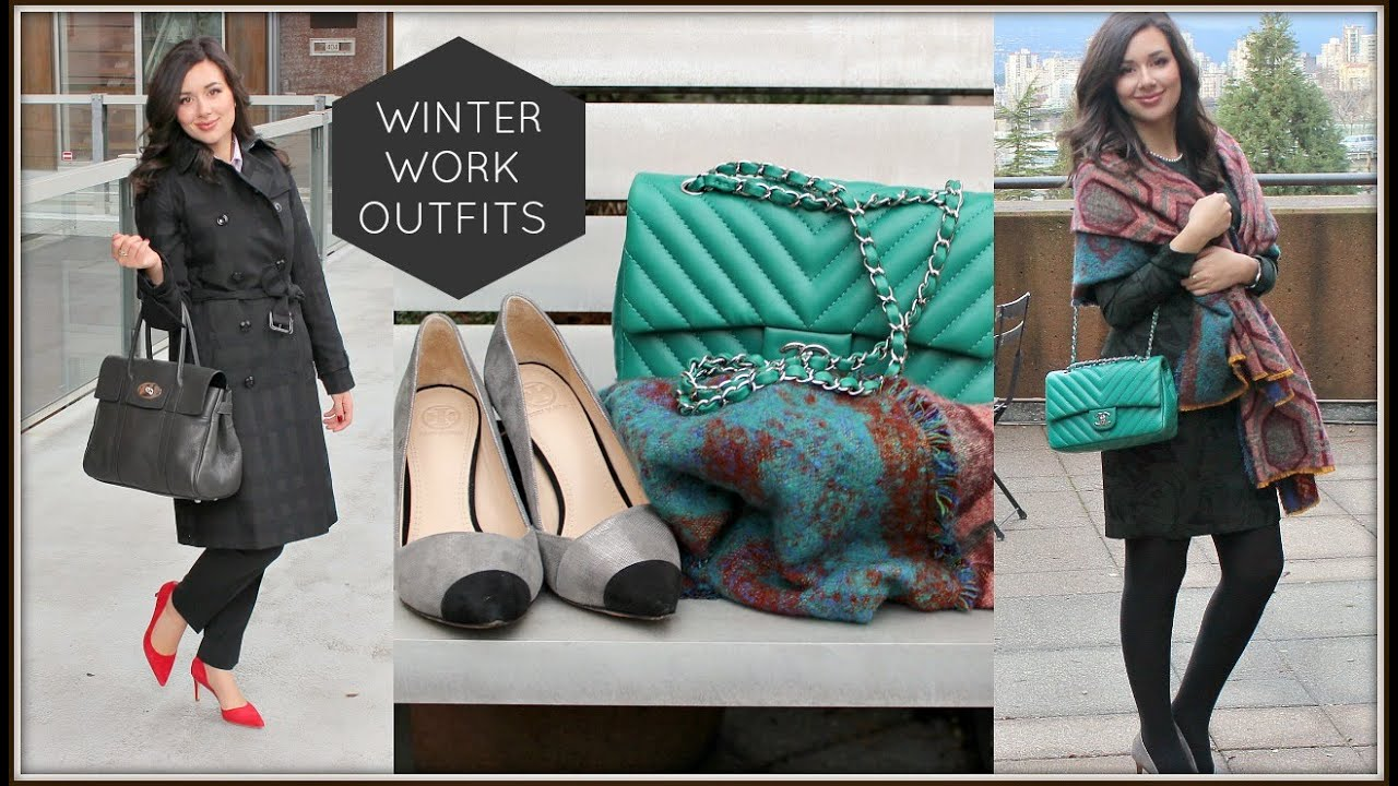 e29da87037a2 MONDAY TO FRIDAY WINTER WORK OUTFITS - YouTube