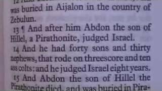 Judges 12 King James Holy Bible