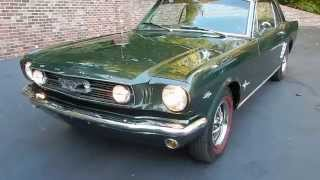 1966 Ford Mustang Coupe, recently restored, for sale Old Town Automobile in Maryland