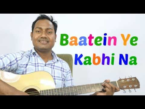 Baatein Yeh Kabhi Na Khamoshiyan Heartbeat Style Guitar Cover Mp3 ...