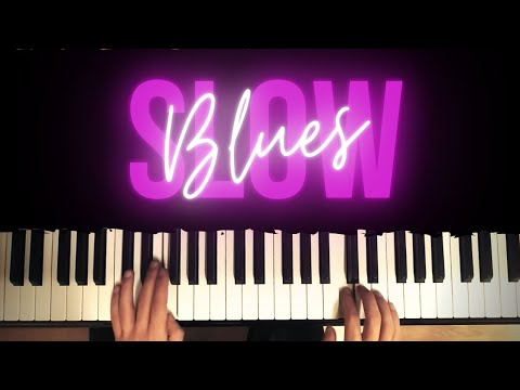 Slow Blues Piano Song and Improvisation │Blues Piano Lesson #3