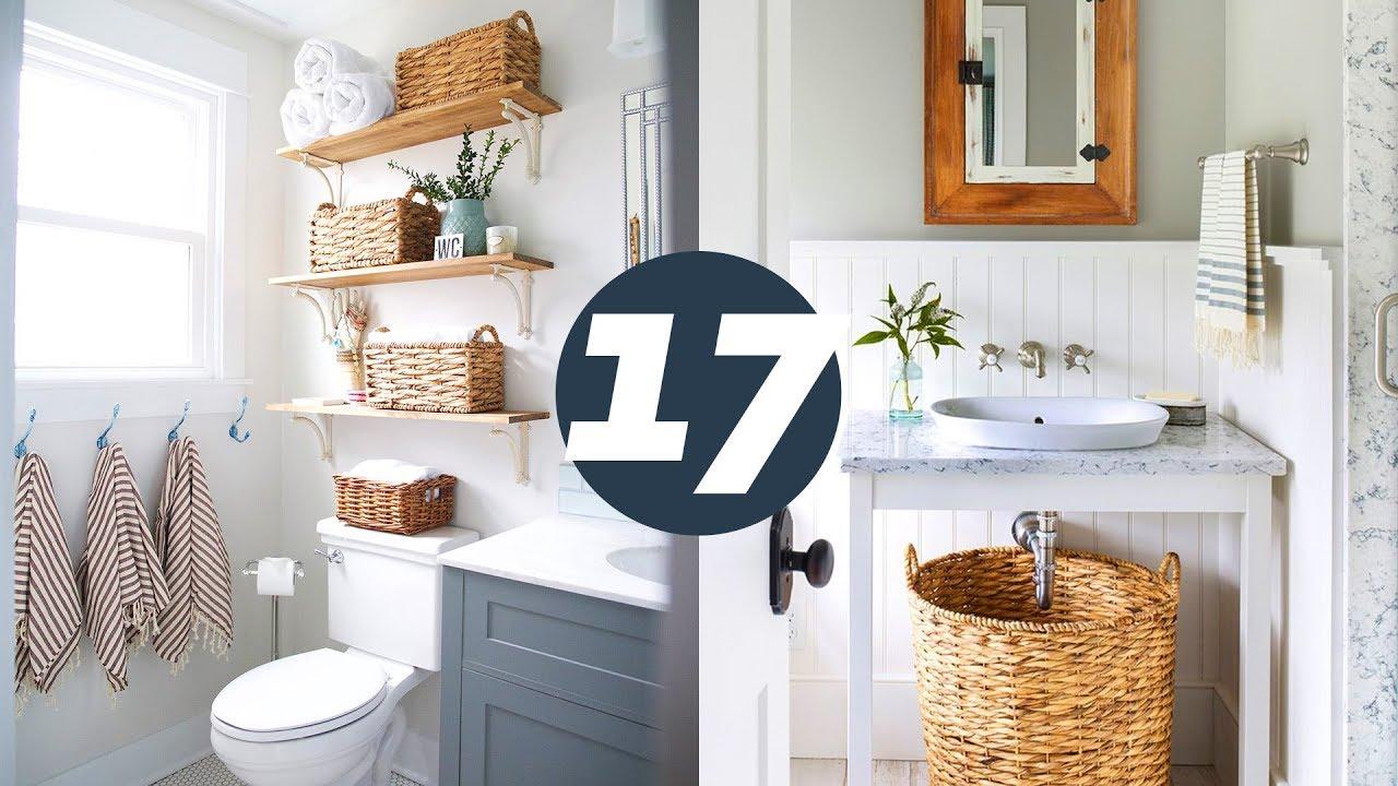 17 ideias para organizar banheiro pequeno youtube for Como organizar un apartamento muy pequeno
