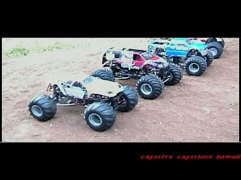 Monster Jam Hawaii Some of Hawaii's Realistic RC Monster Trucks Freestyle preview video by maxdestruction