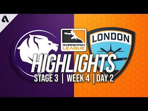 Los Angeles Gladiators vs London Spitfire   Overwatch League Highlights OWL Stage 3 Week 4 Day 2