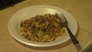 Green Bean And Beef Pasta