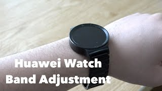 how to adjust link band on huawei watch