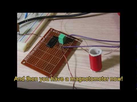How to make the simplest magnetometer(or Gauss meter) - Lu Le Laboratory