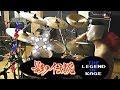 影の伝説BGMを激しく叩いてみた!【ドラム&アクション】NES - Legend Of Kage Music - Drum cover with action