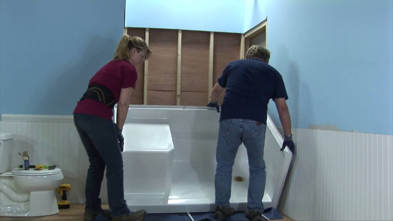 Multi-Piece Low Threshold Shower Installation Video - YouTube