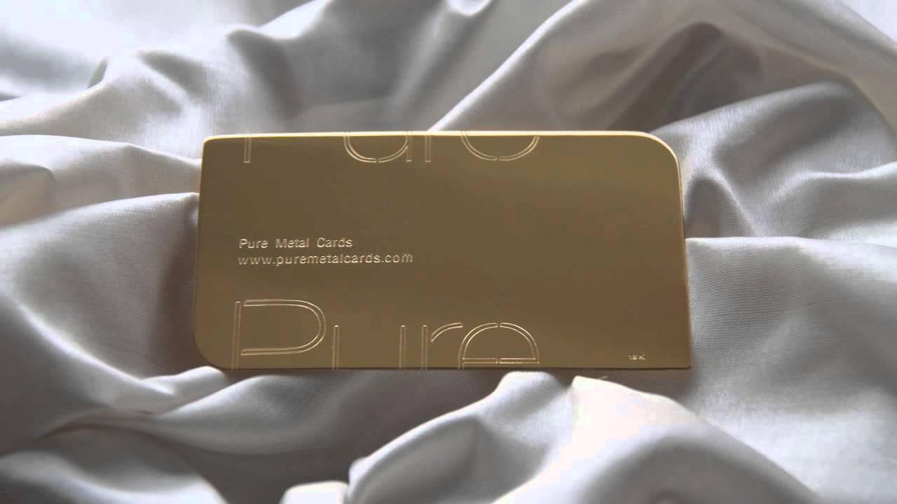 Gold Business Cards by Pure Metal Cards - YouTube