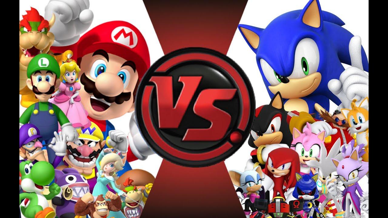 Mlg Hd Wallpaper Mario Vs Sonic Total War Cartoon Fight Club Episode 18