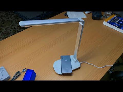 Wireless Charging LED Desk Lamp by Tzumi