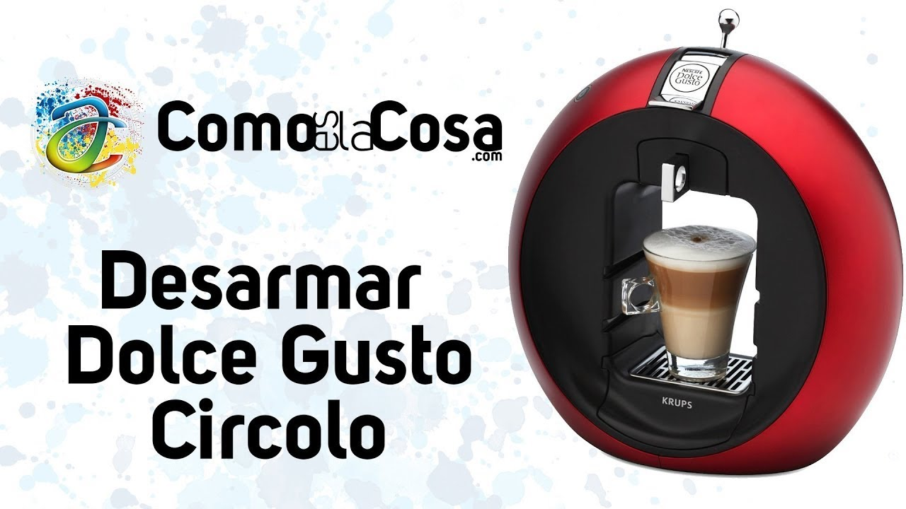 desarmar cafetera dolce gusto circolo de krups youtube. Black Bedroom Furniture Sets. Home Design Ideas