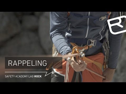 Safe rappelling with rubes when alpine climbing