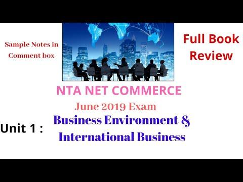 UNIT 1 | BUSINESS ENVIRONMENT & INTERNATIONAL BUSINESS | BOOK REVIEW | NET COMMERCE | JUNE 2019