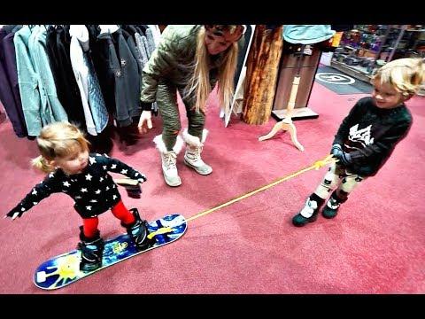 Mini Jake Paul TEACHES His Sister HOW TO SNOWBOARD!!