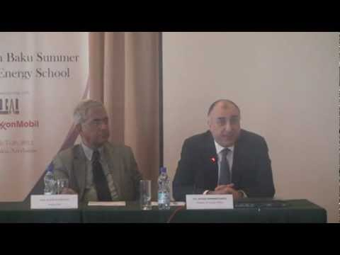 Minister Elmar Mammadyarov's speech at Baku Summer Energy School.