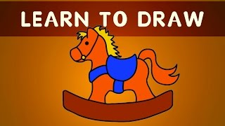 You Can Teach Your Child At Home | Learn To Draw Toy Horse