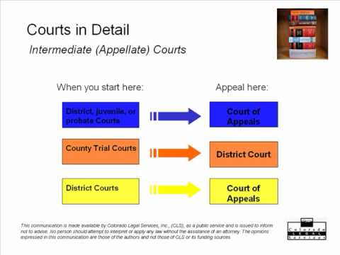 How the Colorado Courts Work