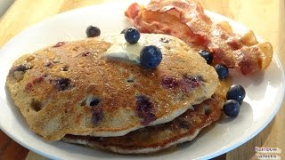 Blueberry Buckwheat Pancakes From Scratch - Using Your Wheat Berries