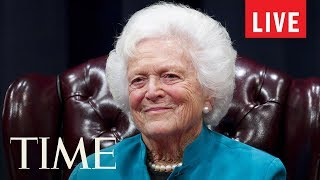 Former First Lady Barbara Bush's Funeral At St. Martin's Episcopal Church In Houston | LIVE | TIME